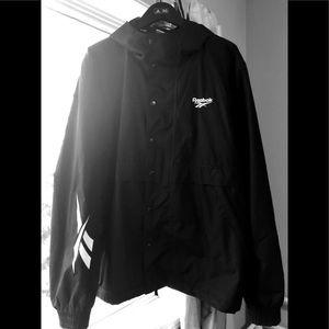 REEBOK Windbreaker Water-resistant jacket Men's M